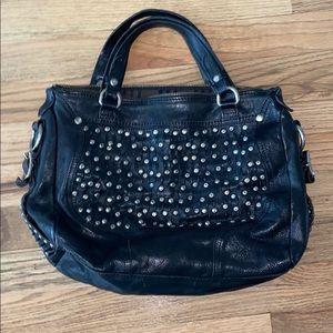Frye studded black leather bag purse